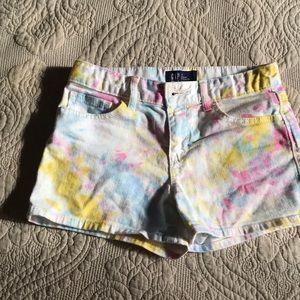 GAP Bottoms - GAP Jean shorts with fun paint pattern.
